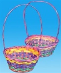 12 inch Rainbow Bamboo Easter Basket