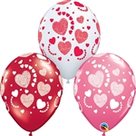 Etched Hearts-A-Round Assortment