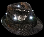 BLACK Light-Up Sequin Fedora