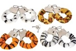 Animal Print Furry Hand Cuffs