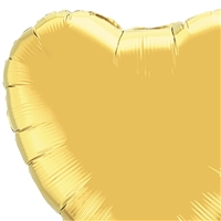 36 inch Heart Qualatex Foil GOLD, Price Per Package of 5