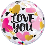 Love You Bubble Balloon