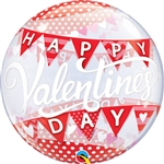 22 inch BUBBLES Valentine Banner