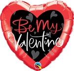 Be My Valentine Script Balloon