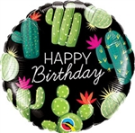 18 inch Birthday Cactuses