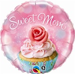 Sweet Mom Cupcake Balloon