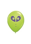 5in Qualatex Space Alien Head LIME GREEN, Price Per Bag of 100