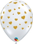 11 inch Qualatex Random Hearts-A-Round