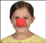 Red Foam Clown Nose, Price Per DOZEN