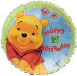 18 inch Disney POOH Happy 1st Birthday