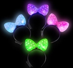Light-Up Polka Dot BOW HEADBAND