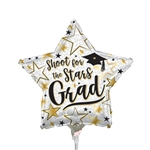 9 inch Shoot 4 the Stars Grad Foil Balloon