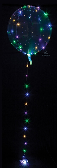 MULTI-COLOR Lights Crystal CLEARZ Balloon