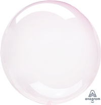 LIGHT PINK Crystal CLEARZ Poly Balloon
