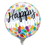 12 inch Air Bubble Happy Birthday Colorful Dots