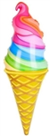 36 inch Rainbow Ice Cream Cone Inflate