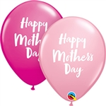Mother's Day Script Latex Balloons