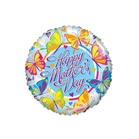 9 inch Happy Mother's Day Lots of Butterflies Foil Balloon