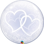 Deco Bubble Entwined Hearts