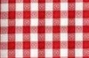 Table Cover 84in Round RED GINGHAM, Price Per EACH