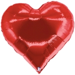 35 inch Casino HEART foil balloon