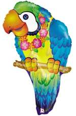 29 inch Tropical Parrot shaped foil balloon