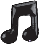 40 inch Music Note DOUBLE BLACK shaped foil balloon