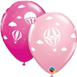 Hot Air Balloons - PINK & WILD BERRY