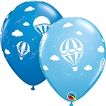 Hot Air Balloons - Dark Blue & Pale Blue