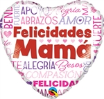 Felicidades Mama Words Balloon