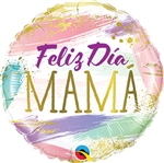 Feliz Dia Mama Color Swashes Balloon