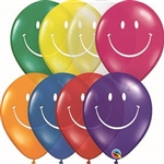 11 inch Qualatex SMILEY FACE Jewel Assortment