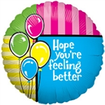 18in Feel Better Foil Balloon