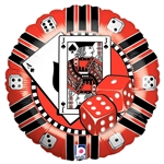 18 inch Casino Chip shaped foil balloon.
