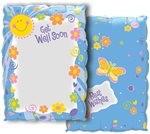 30in JW Get Well Soon Sun & Flowers (Write On Balloon), Price Per Package of 5