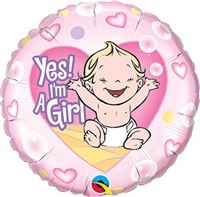 Yes! I'm A Girl Foil Balloon