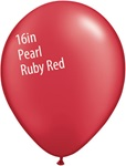 16 inch Qualatex Radiant PEARL RUBY RED Latex Balloon