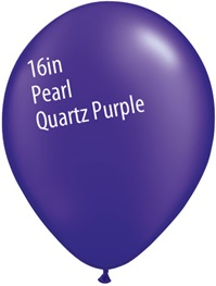 16 inch Qualatex Radiant PEARL QUARTZ PURPLE Latex Balloon