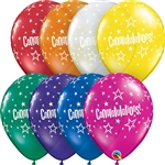 11in Qualatex Congratulations Star Pattern Jewel Assortment