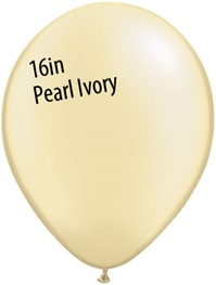 16 inch Qualatex Pastel PEARL IVORY Latex Balloon