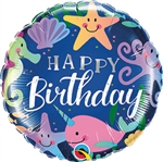 Birthday Fun Under the Sea Foil Balloon