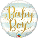 Baby Boy Blue Stripes Balloon