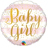 Baby Girl Pink Stripes Balloon