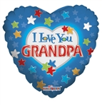 18 inch I Love You Grandpa foil balloon