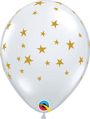 11 inch Qualatex Contempo Stars Latex Balloons, Price Per Bag of 50