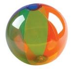 Translucent Rainbow Beach Ball