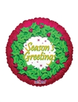 9 inch Season's Greetings Wreath