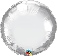 Qualatex Chrome Silver Round Foil Balloon