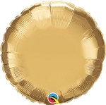 Qualatex Chrome Gold Round Foil Balloon