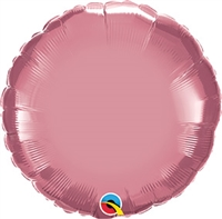 Qualatex Chrome Mauve Round Foil Balloon